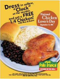 FREE Dinner Today Compliments Of Pollo Tropical